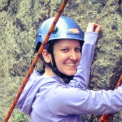 Cashea Arrington rock climbing