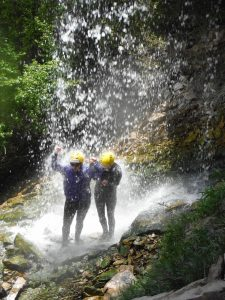 Jessica G & friend in waterfall