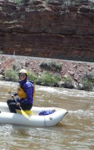 Jessie K in Kayak