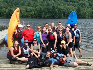 Taylor Kanas with group canoeing