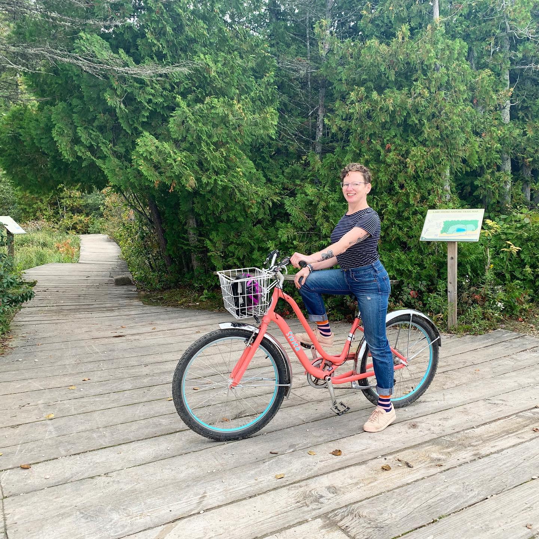 Christy L. Riding a Bike