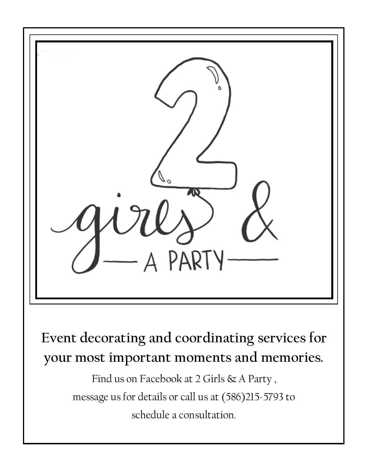 Two Girls and a Party Logo